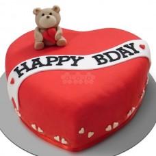 Heart Chocolate Cake