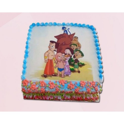 Chota Bheem Cake Pineapple Photo Cake