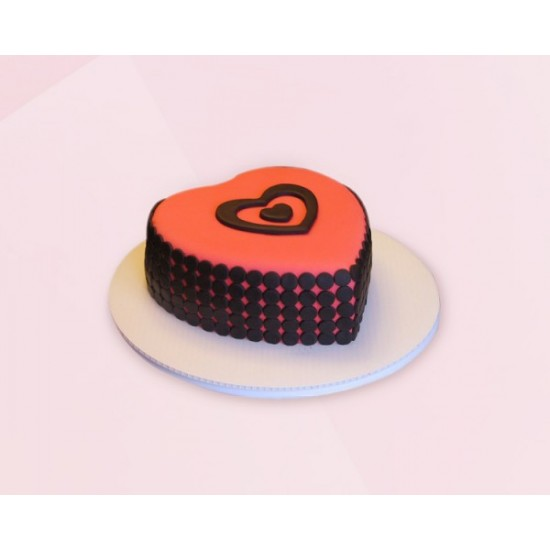 Heart cake Fondant Chocolate Cake