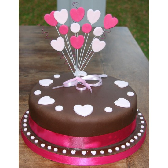 27 Heart Chocolate Cake