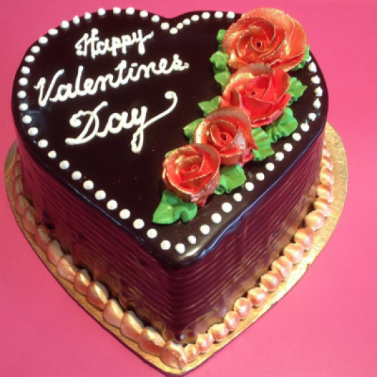 50 Heart Chocolate Cake