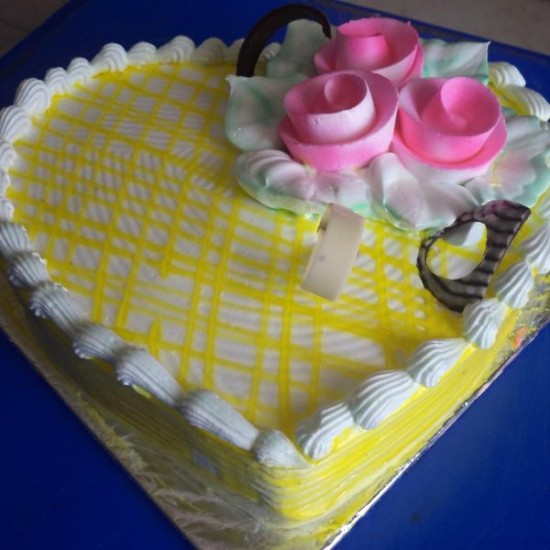 Heart Pineapple Cake