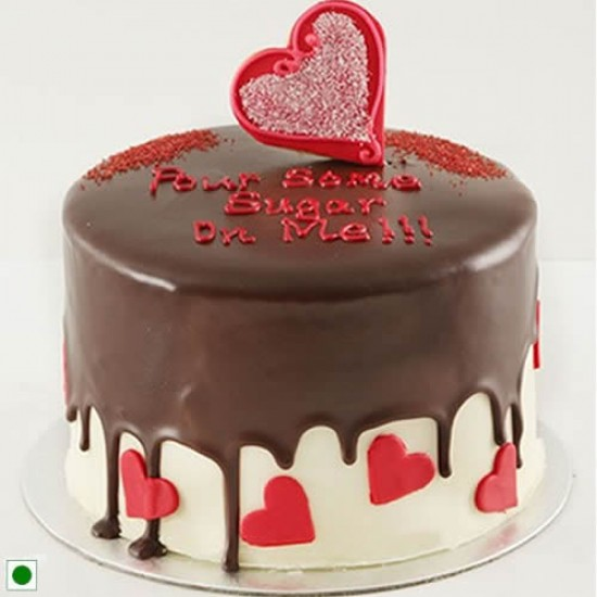 Romantic chocolate cake