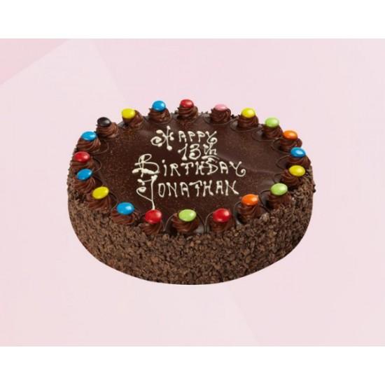 Chocochips jems Cake