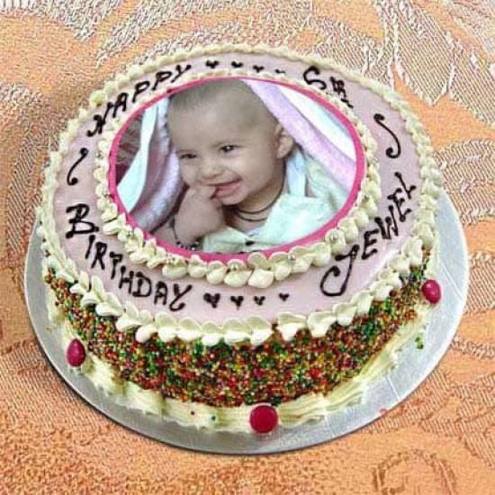 Photo Cake Vanilla Sponge  1kg