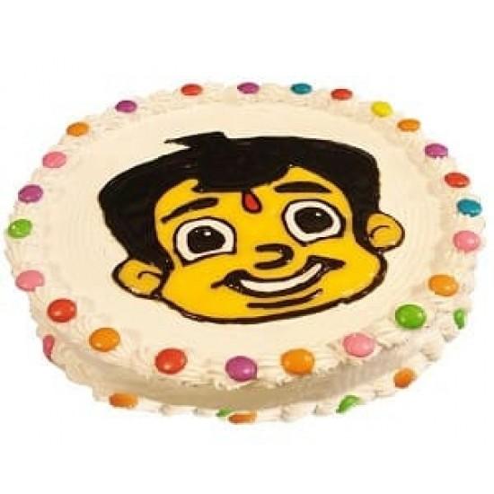 Chota Bheem Face Cake  1kg