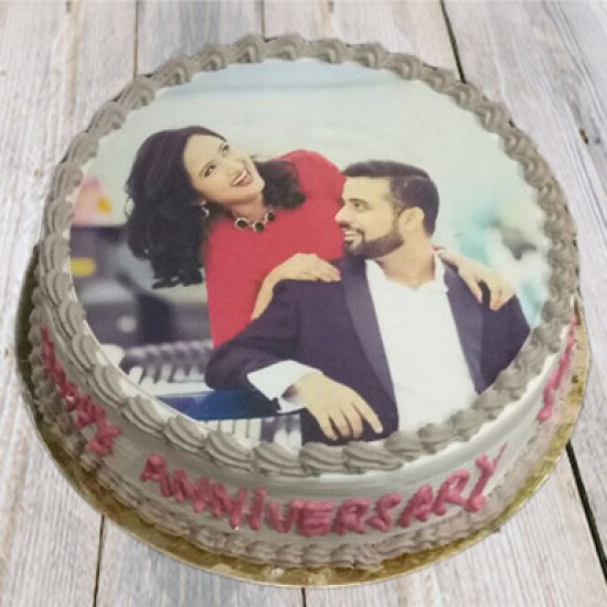 Couple  Chocolate Photo cake  1kg