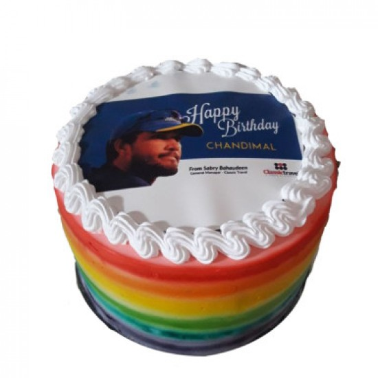 Rainbow Photo Cake 1kg