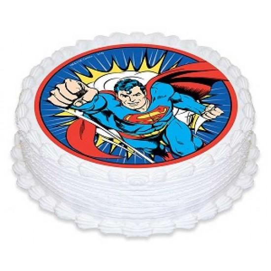 Superman Photo  Cake 1kg