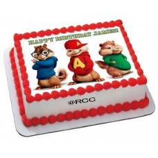 Alvin and Chipmunks  Pineapple photo cake