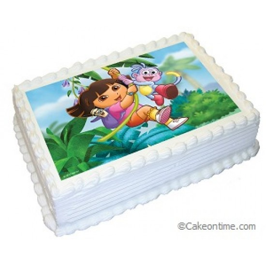 Dora the Explorer Photo Cake