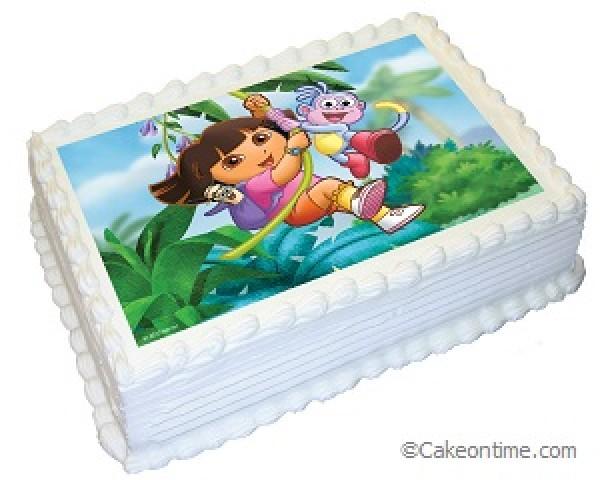 Dora the Explorer Photo Cake
