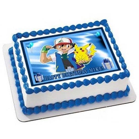 Stupendous Pokemon Pikachu Cake Delivery In Delhi Chocolate Cake Delivery Funny Birthday Cards Online Hetedamsfinfo