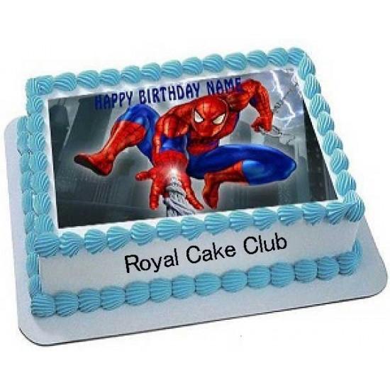 Astonishing Spiderman Photo Cake Chocolate Cake Delivery In Delhi Chocolate Funny Birthday Cards Online Drosicarndamsfinfo